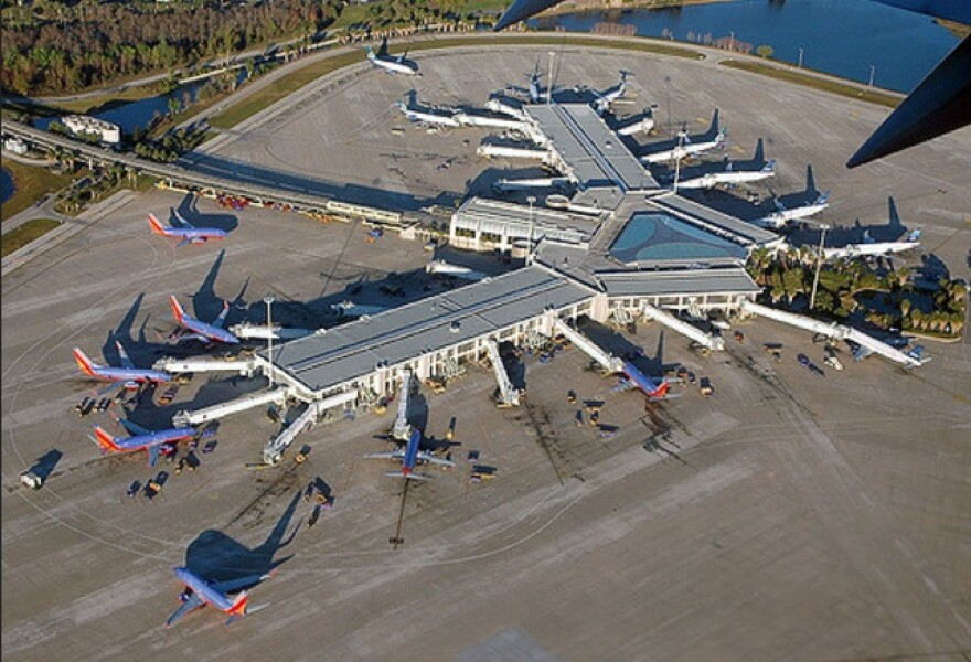 aerial view of Orlando airport