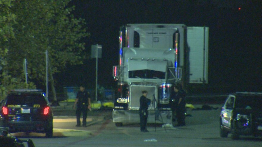 Eight people died at the scene and 30 others were transported to San Antonio hospitals in an apparent ill-fated human smuggling operation.