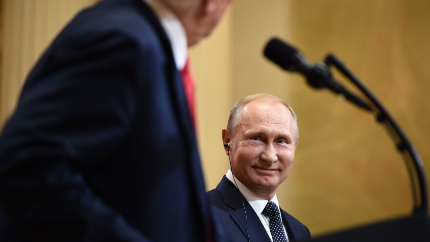 Russia's President Vladimir Putin Putin suggested to President Trump in their one-on-one meeting in Helsinki on Monday that Trump allow Russian investigators to come to the U.S. to question a former ambassador in exchange for Putin allowing U.S. investigators to travel to Russia to question 12 recently indicted military intelligence officers.