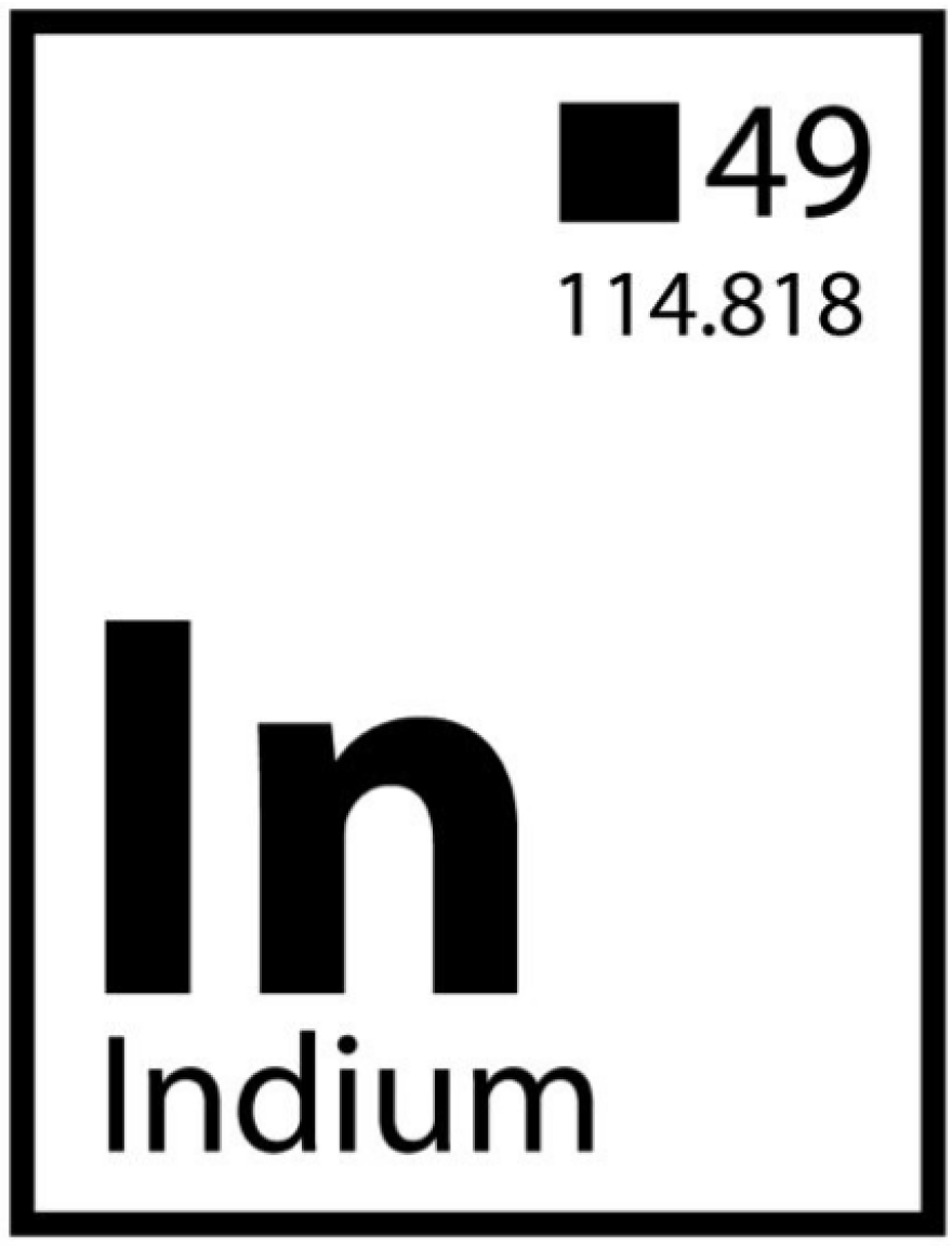 """Demockratees T-shirt design showing the element Indium (play on the word Indian) with the atomic number 49. Coincidentally, Red Corn says, """"49""""s are a colloquial name for Indian after-parties with singing and dancing."""