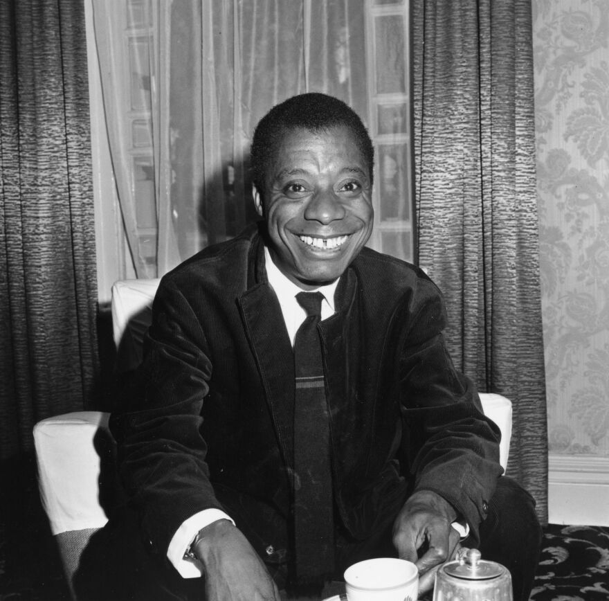 James Baldwin, shown here in 1964, was the first in a series of authors Harry and Lynne Sharon Schwartz recorded.