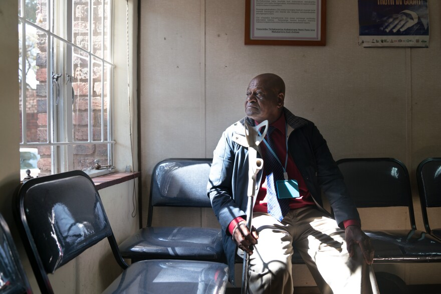 """MDC supporter Weston Katiyo, 75, was kidnapped and tortured during the election in 2008. Today, he's one of We the People of Zimbabwe's """"peace champions."""""""