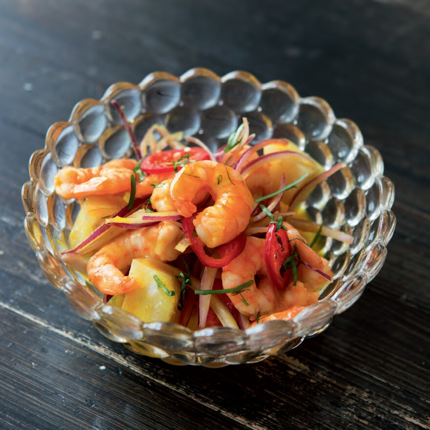 Hot stone shrimp, another ceviche featured in <em>Peru: The Cookbook</em> by Gastón Acurio.
