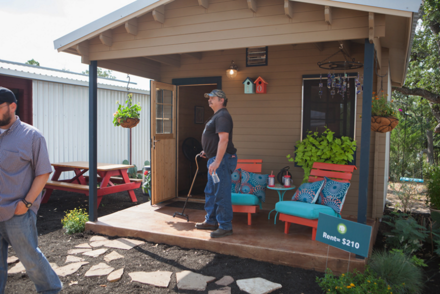 Opening ceremony of new Community First! Village of tiny homes in Austin, 2014.