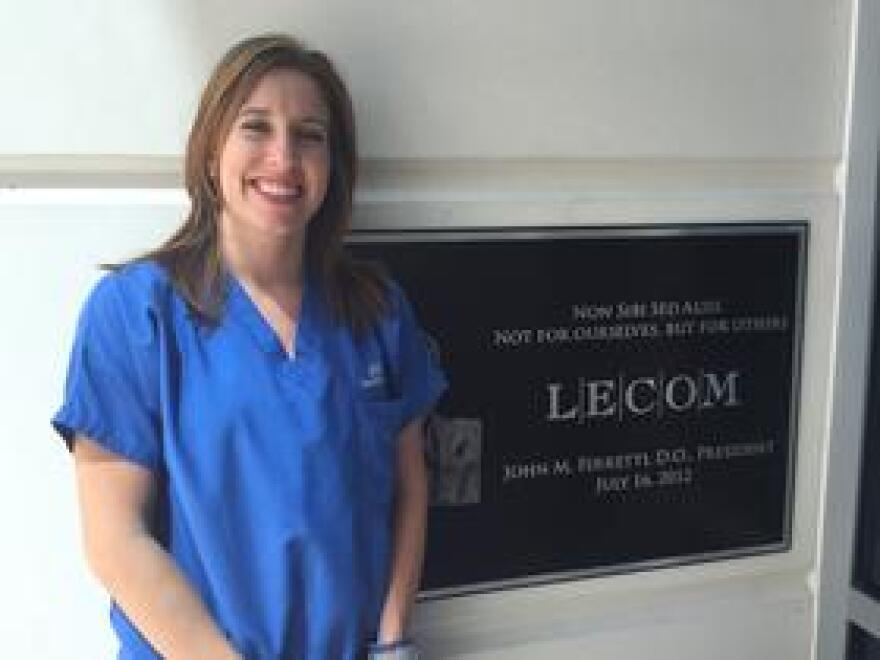 Jenna Pascoli graduates in a year from the Lake Erie School of Dental Medicine in Bradenton but fears high loan debt will keep her from working in a low-income community.