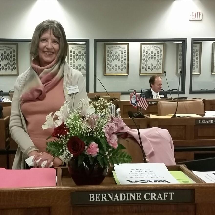 State Sen. Bernadine Craft is the only female member of Wyoming's 30-seat Senate.