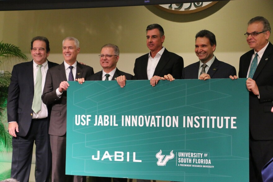 Leadership from USF and Jabil announced the USF Jabil Innovation Institute Thursday in Tampa.