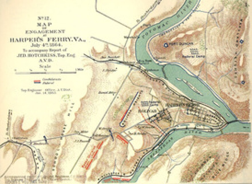 """Hotchkiss's mapmaking skills played a major role in """"Stonewall"""" Jackson's brilliant Shenandoah Valley Campaign."""