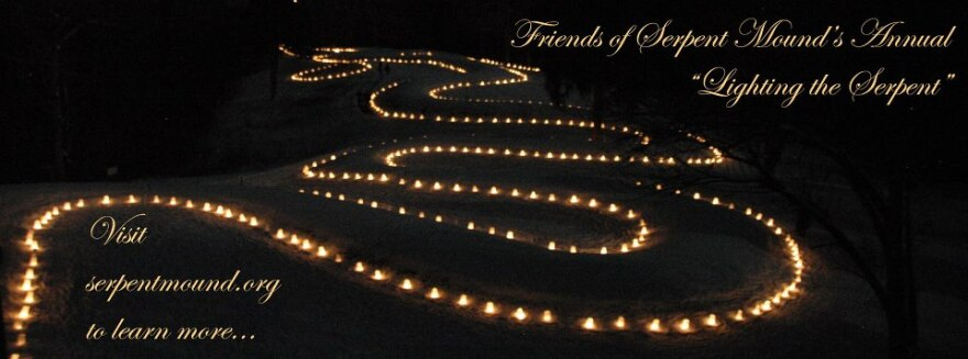 Friends of the Serpent Mound invites the public to a lighting ceremony every year on the winter solstice, which just passed on Dec. 21.