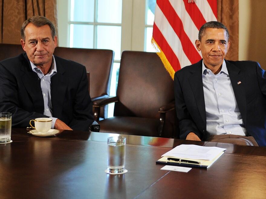 House Speaker John Boehner, R-Ohio, and President Obama at the White House.