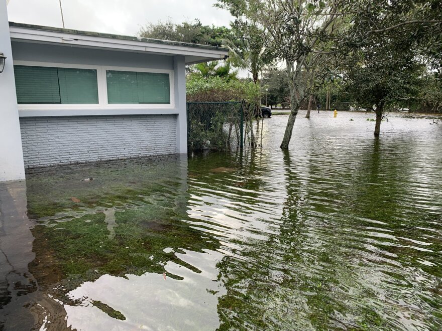 Flooded streets in Plantation