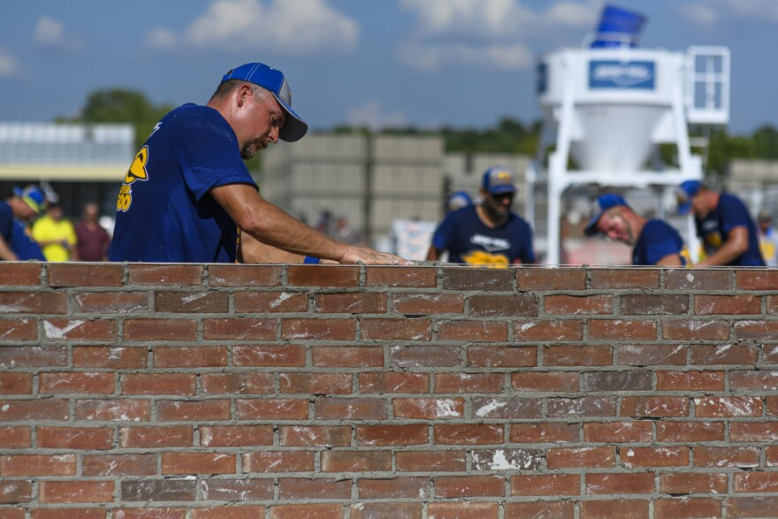 Mason Terry Daniel competes for the third time in the Spec Mix Bricklayer 500 on September 12, 2019.  Daniel said he hopes to encourage more young people to get into the industry.