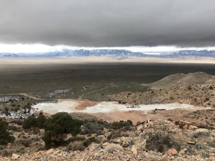 A rock mine in the San Francisco Mountains in southwestern Utah.