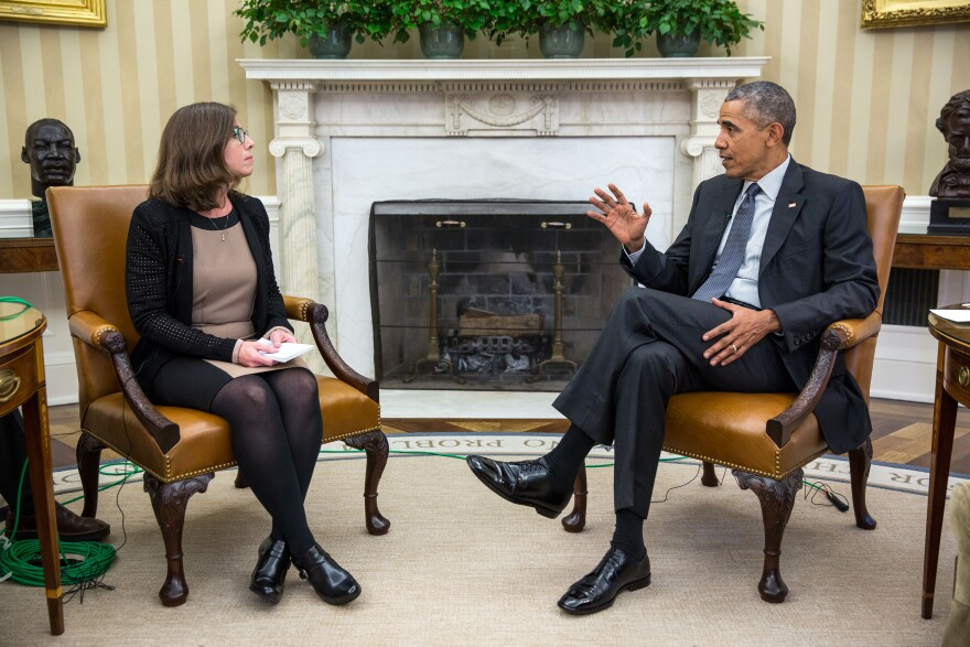 WUSF News Director Mary Shedden spoke with President Barack Obama about health care Thursday in the Oval Office.