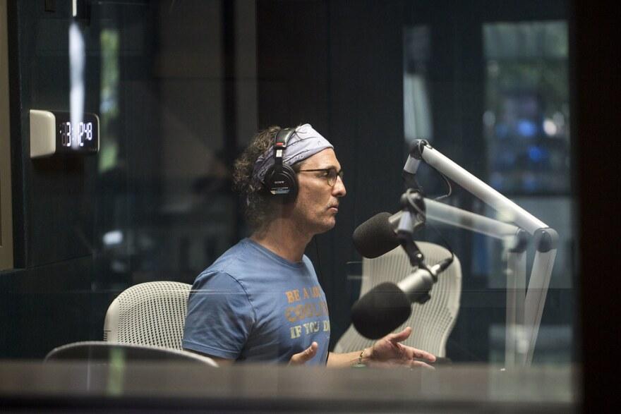 McConaughey speaks to Texas Standard host David Brown at KUT on April 11, 2018.