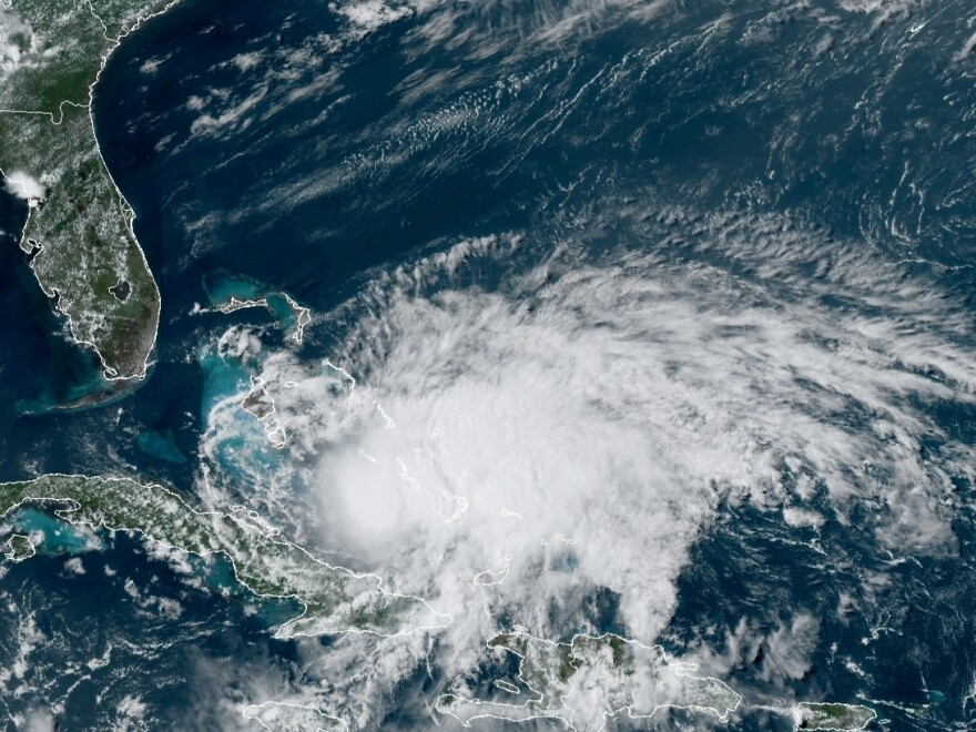 Isaias is predicted to strengthen before nearing the U.S. coast this weekend. The storm is currently bringing dangerous rains to the Bahamas.