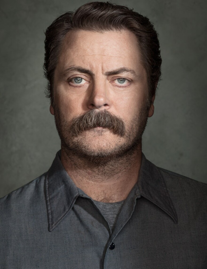 Nick Offerman starred in the NBC series <em>Parks and Recreation </em>and is also the author of the book <em>Paddle Your Own Canoe</em>.