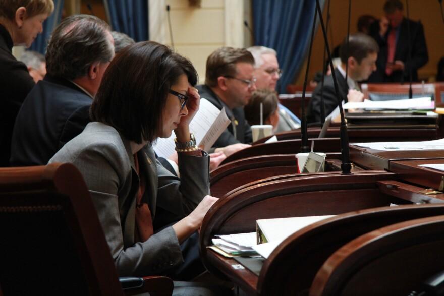 Photo of Deidre Henderson inside the Utah Capitol building