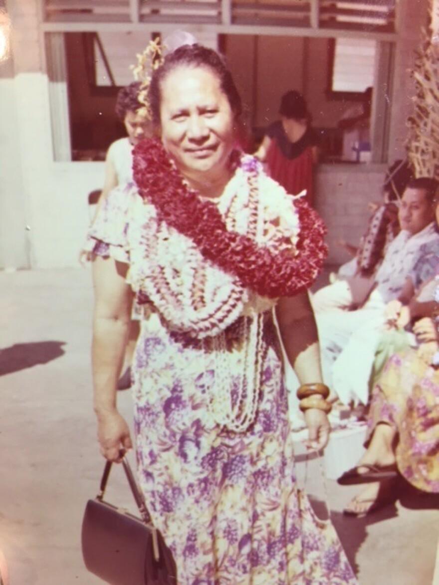 The author's great-grandmother, Martha Kekauililani Kahanu Iwanaga.