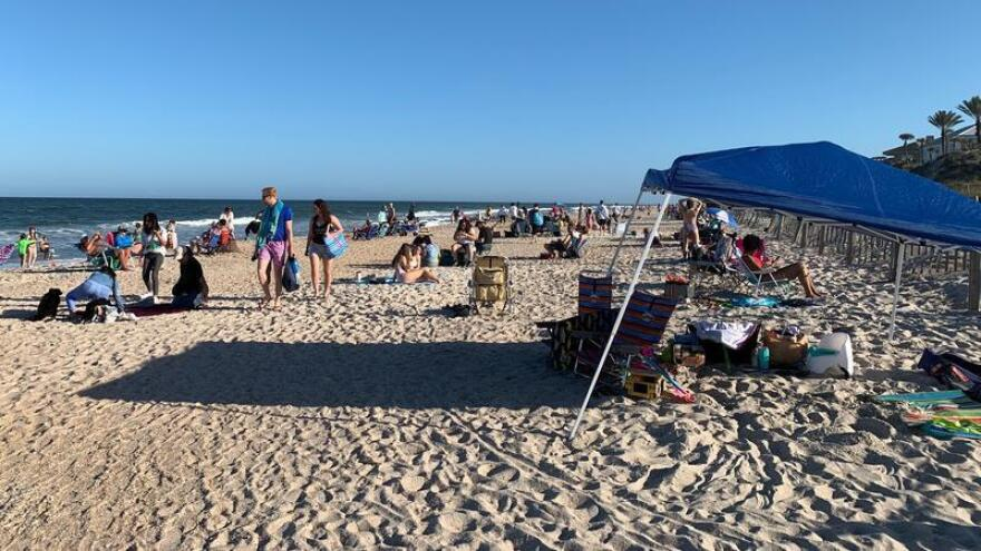 Mickler's Beach in Ponte Vedra Beach remained busy, despite COVID-19, until it was shutdown. Now it has reopened on a limited basis.
