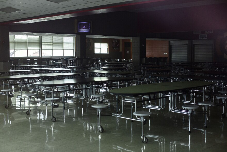 Travis High School, along with other schools in Austin ISD, are closed during the coronavirus pandemic.