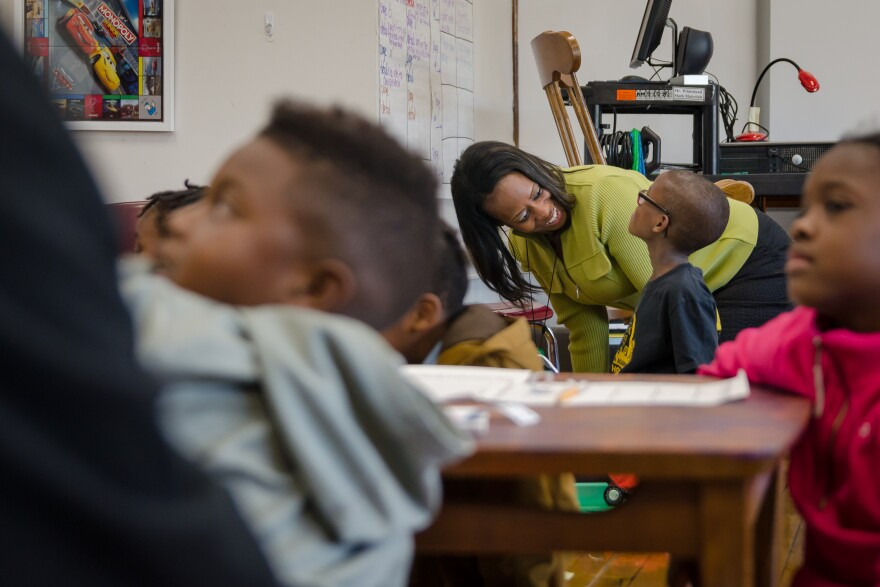Iris Jackson became a teacher in St. Louis Public Schools through the St. Louis Teacher Residency Program. She was a long-time substitute and reading tutor before getting certified through the residency program.