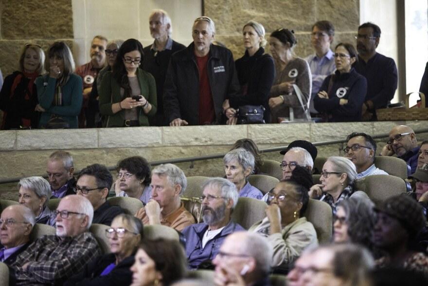 Residents fill Austin City Hall.