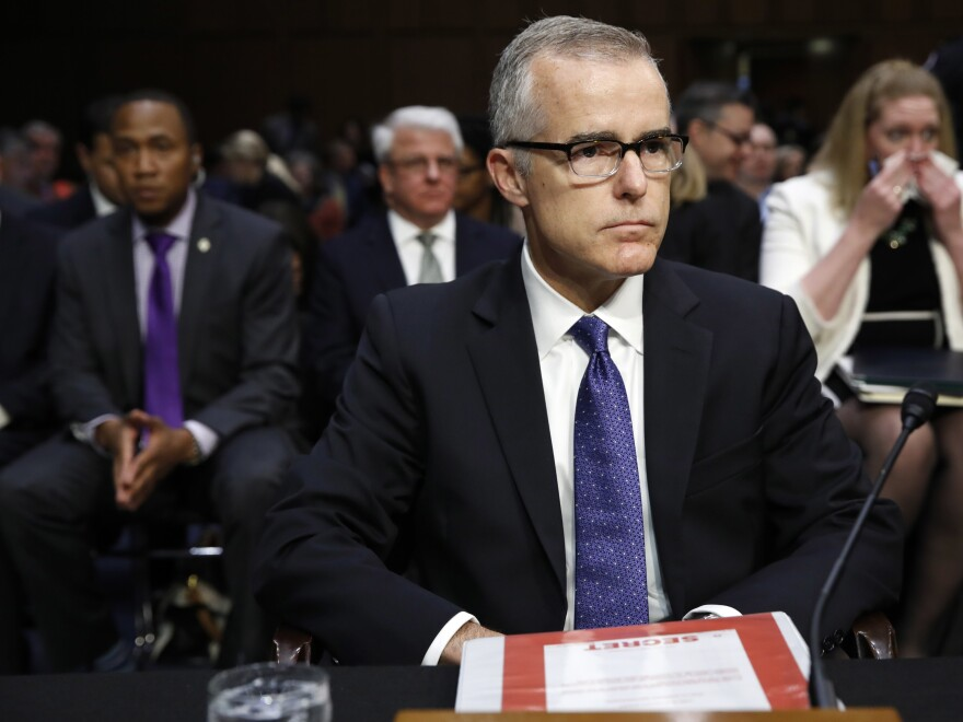 The case of former Deputy FBI Director Andrew McCabe has been referred to prosecutors, but it isn't clear yet whether they will charge him with a crime.