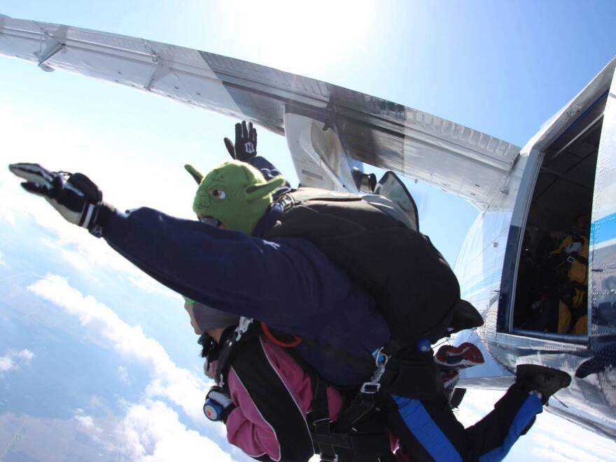 Members of Soaring Spirits International went skydiving last summer.