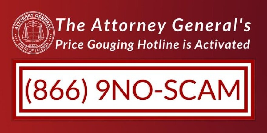 The Attorney General encourages everyone to report price gouging in the wake of Hurrican Dorian.
