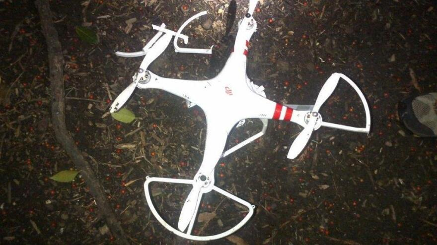 "The Secret Service released this photo of a ""quad copter"" that crashed on the White House grounds Jan. 26."