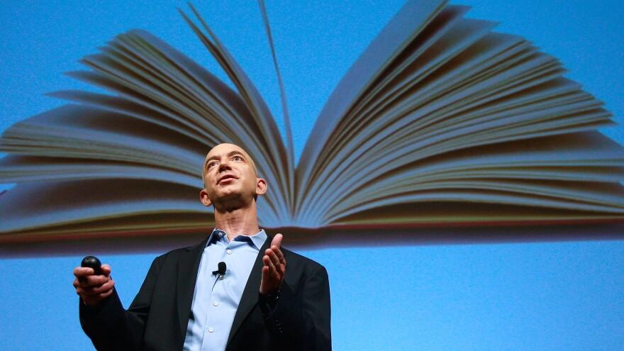 Seattle-based Amazon announced last week that it will begin selling fan fiction. CEO Jeff Bezos speaks at a 2009 event.