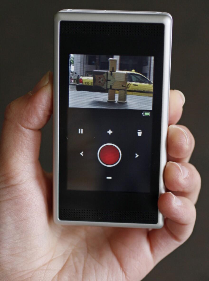 The Flip SlideHD pocket video camera.