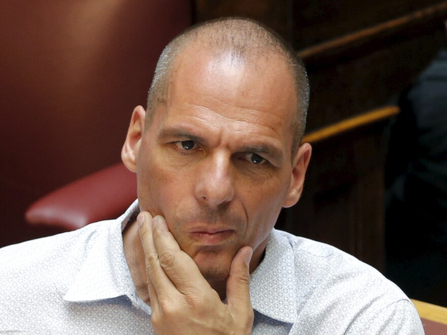 "Former Greek Finance Minister Yanis Varoufakis reacts during a parliamentary session in Athens, earlier this week. In an interview with the BBC, Varoufakis said reforms in exchange for new bailout money ""will fail."""
