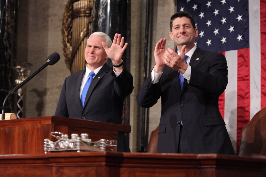 Vice President Mike Pence and House Speaker Paul Ryan