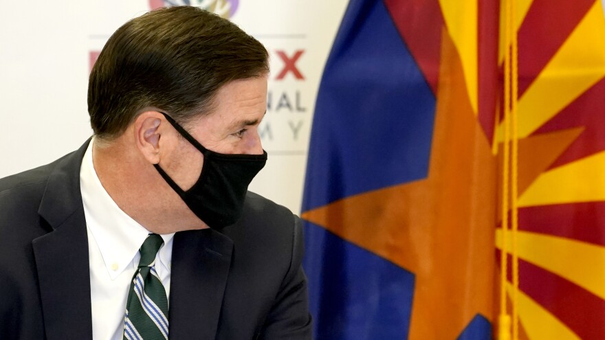 """Masks work. Please wear them,"" Arizona Gov. Doug Ducey, a Republican, said at a recent news conference."