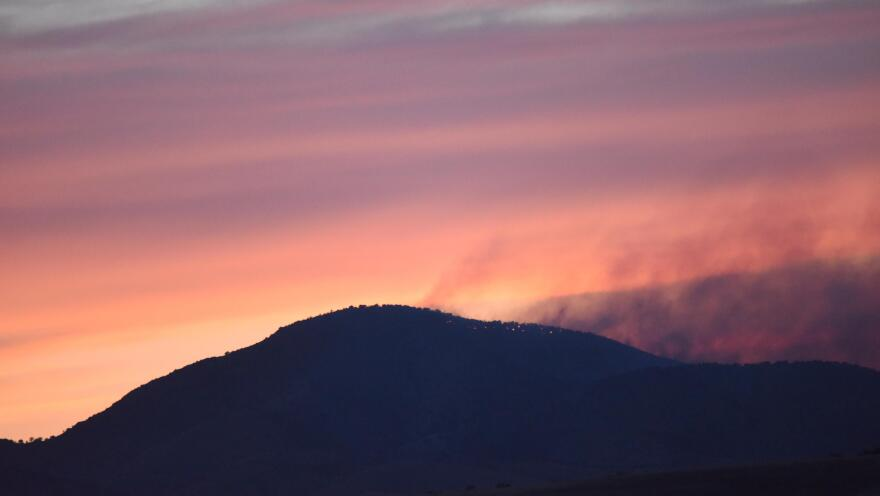 The Sawmill Fire burned near Tucson, Ariz., in late April 2017. Not all views of the blaze were nearly so scenic as this one, shot at sunset by the Arizona Department of Forestry and Fire Management.