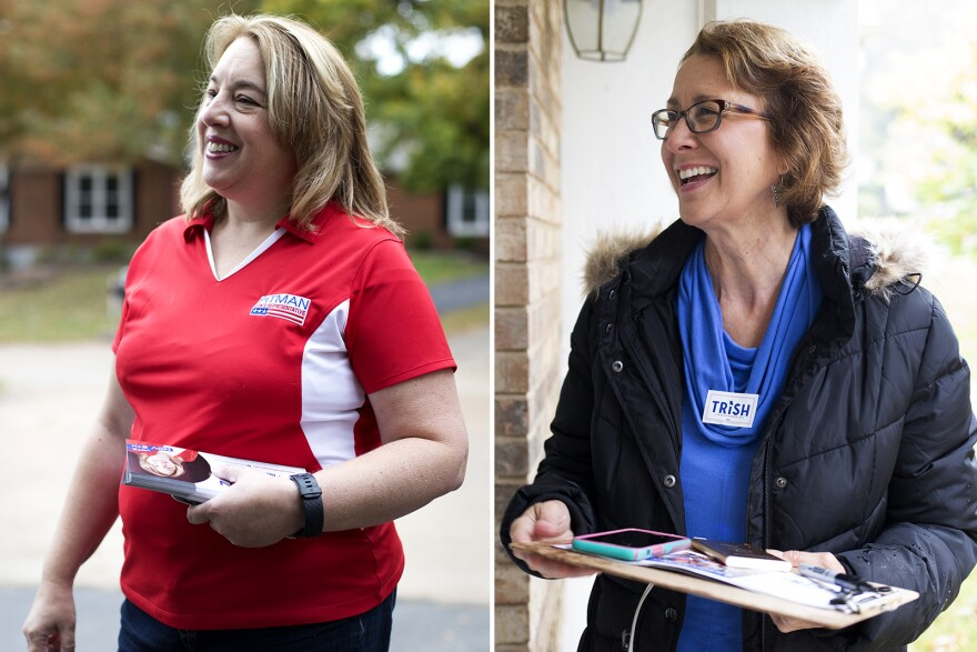Republican Lee Ann Pitman, left, and Democrat Trish Gunby, right, are running to represent Missouri's 99th House District.