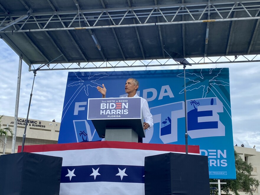 Obama At Biden Campaign Drive-In Rally