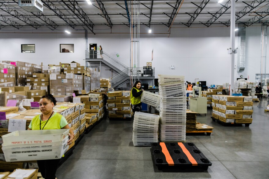 The company's 90,000-square-foot facility in Phoenix is already bustling and things are expected to get a lot busier this year with increased demand for mail-in ballots .