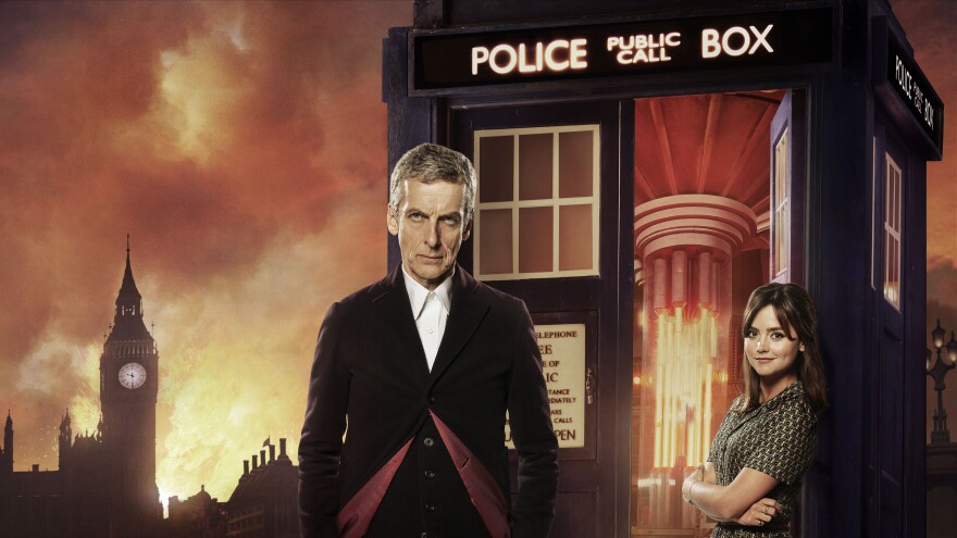 Peter Capaldi and Jenna Coleman star in the BBC series <em>Doctor Who</em>.