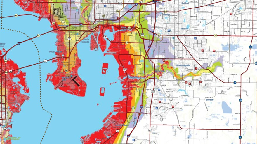 Hillsborough County evacuation zones.