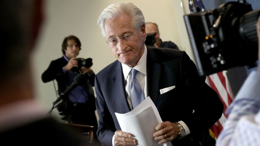 Marc Kasowitz, attorney for President Trump, departs after speaking at the National Press Club on June 8, responding to  former FBI Director James Comey's testimony before the Senate Intelligence Committee.