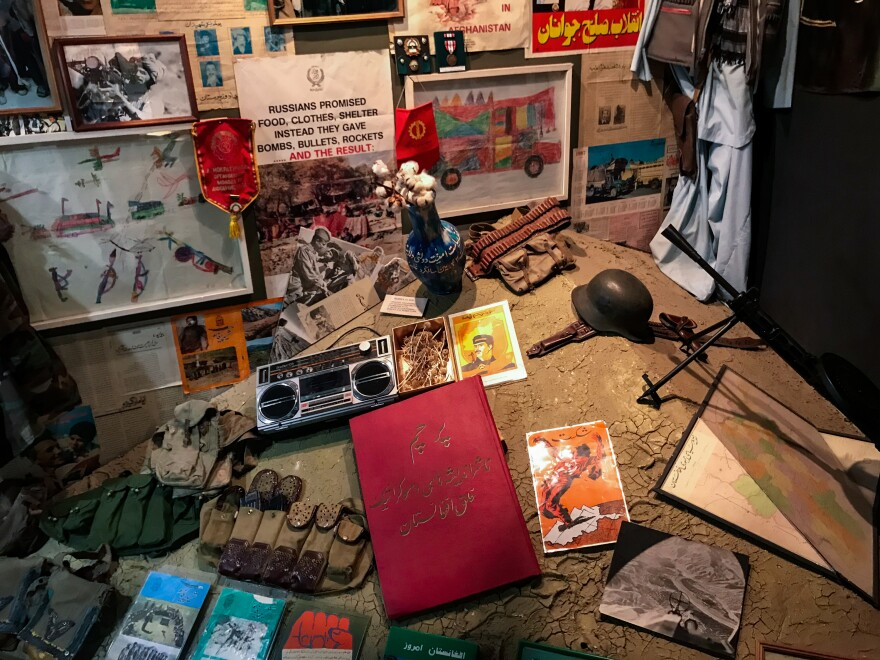 A small museum dedicated to the Afghan war is tucked into the ground floor of a nondescript building on the eastern outskirts of Moscow. The passage of time has dulled the sting of the Soviets' 1989 withdrawal from Afghanistan.