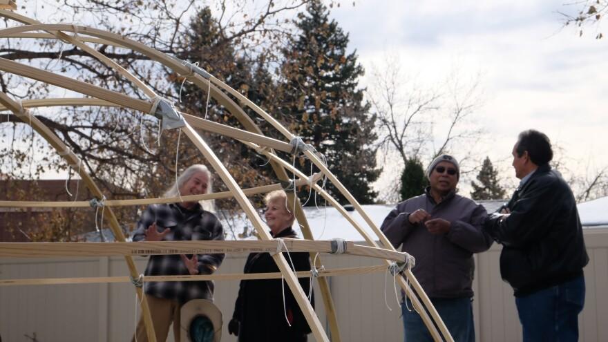 Montana State University Billings dedicated a new sweat lodge on campus November 12, 2019.