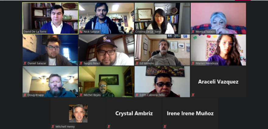 A Zoom call features 15 people