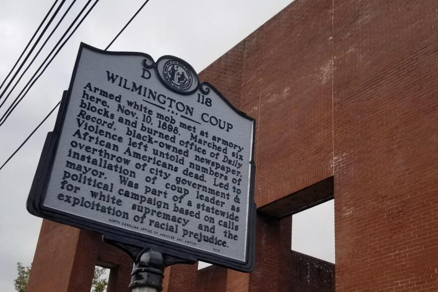 Historical marker in Wilmington