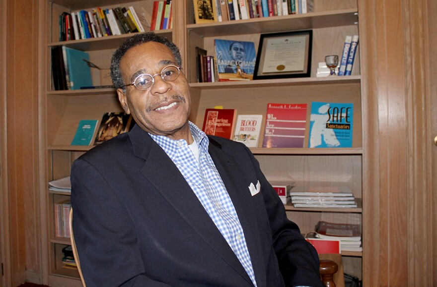 U. S. Rep. Emanuel Cleaver (D-Kansas City) was at Wellspring Church in Ferguson Saturday, April 4, 2015 for voter canvassing.