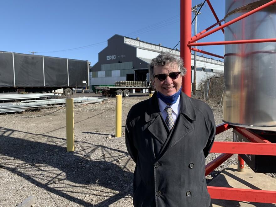 David Landis, president of EPIC Metals. Photo: An-Li Herring / 90.5 WESA