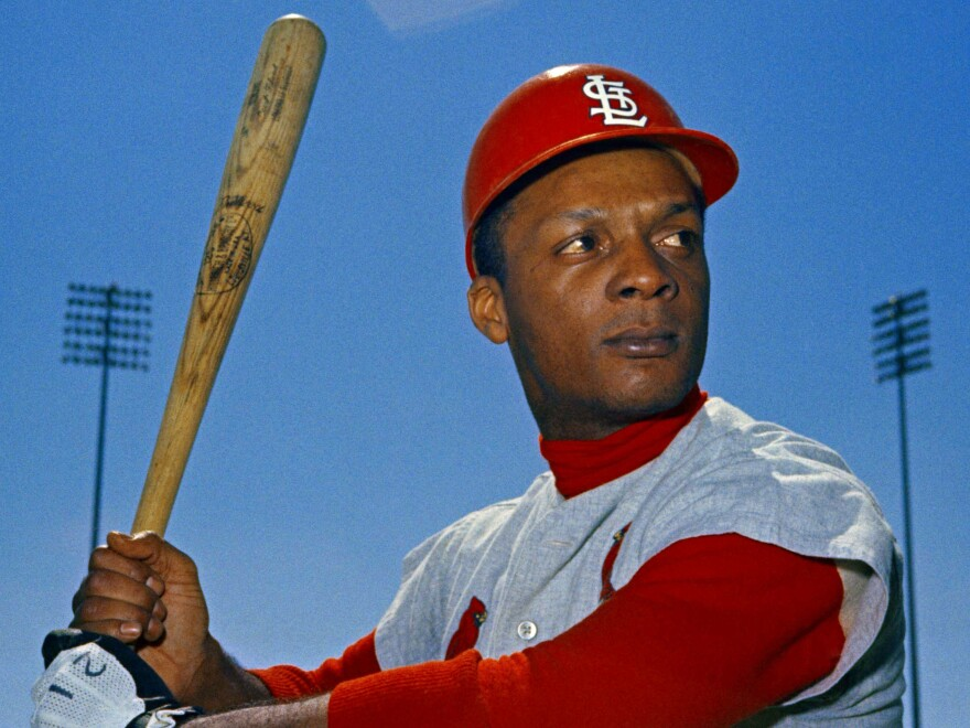 """St. Louis Cardinals outfielder Curt Flood in March 1968. He helped lay the groundwork for modern free agency after he declared that he was a """"well-paid slave."""""""